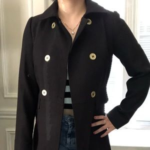 H&M black trench coat in US size 4.
